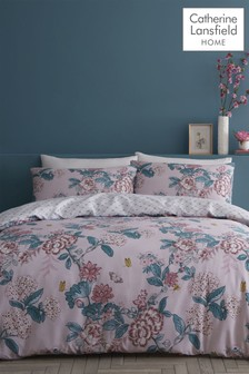 Catherine Lansfield Peony Gardens Duvet Cover and Pillowcase Set