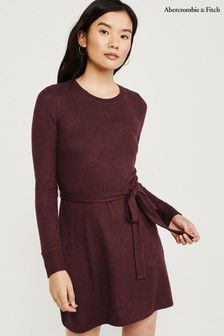 Abercrombie & Fitch Burgundy Cozy Dress