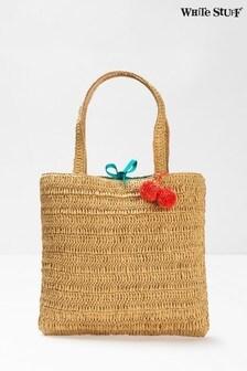 White Stuff Natural Rhea Paper Raffia Tote Bag