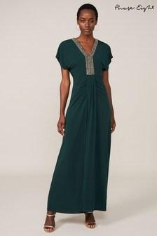 Phase Eight Green Kieley Embellished Maxi Dress