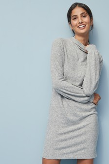 Cosy High Neck Jumper Dress