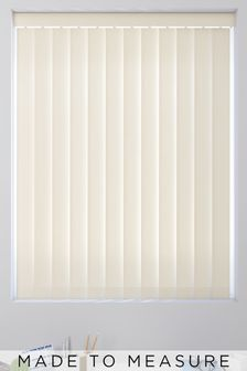Canvas Oyster Cream Made To Measure Vertical Blind
