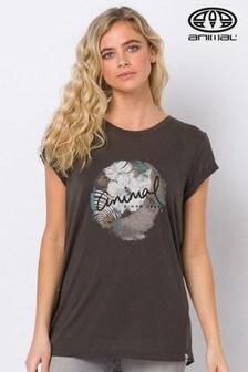 Animal Black Tropical Night Graphic T-Shirt