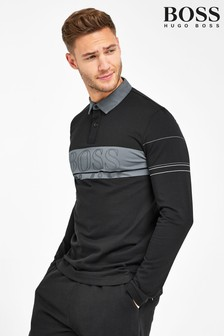 BOSS Plisy Long Sleeve Polo