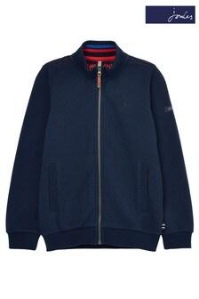 Joules Blue Parkfield Full Zip Funnel Neck Sweatshirt