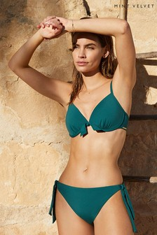 Mint Velvet Tie Side Bikini Briefs