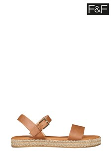 F&F Tan Studded Sandals