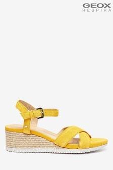 Geox Woman's Ischia Corda Yellow Sandals