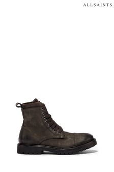 AllSaints Grey Wayland Ankle Calf Boots