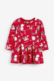 Christmas Print Dress (3mths-7yrs)