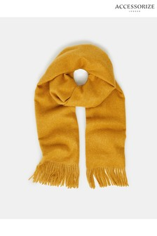 Accessorize Yellow Holly Supersoft Blanket