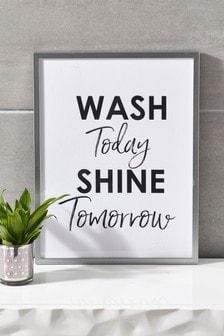 Wash Shine Framed Print