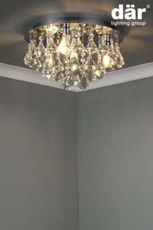 Dar Lighting Silver Fringe 4 Light Bathroom Flush Fitting