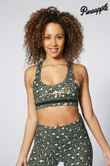 Pineapple Leopard Racer Bra Top