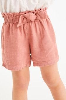 Linen Blend Bow Shorts (3mths-7yrs)