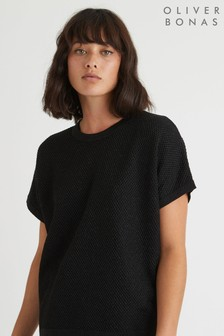 Oliver Bonas Black Sparkle Knitted Top