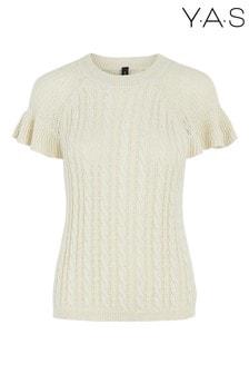 Y.A.S Organic Cotton Ruffle Sleeve Cotla Jumper