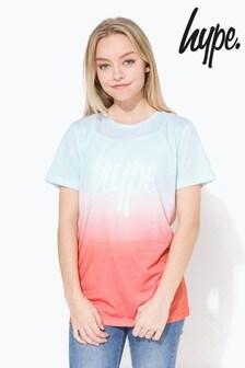 Hype. Spring Sky Fade Script Kids T-Shirt
