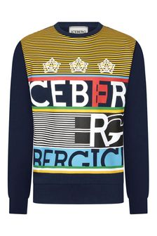 Ice Iceberg Boys Blue Sweater