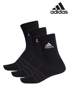 adidas Black Crew Socks Three Pack