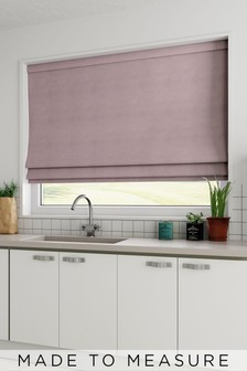 Cotton Mauve Purple Made To Measure Roman Blind
