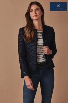 Crew Clothing Blue Sequin Jacket