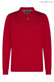 Tommy Hilfiger Red Long Sleeve Polo