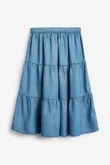 TENCEL™ Tiered Maxi Skirt (3-16yrs)