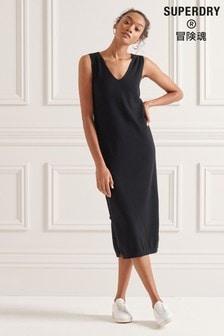Superdry V-Neck Knitted Dress