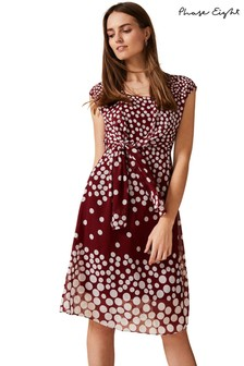 Phase Eight Red Candice Spot Dress