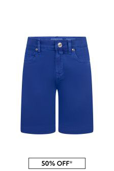 Jacob Cohen Boys Blue Cotton Shorts