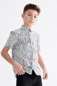 Short Sleeve Crackle Print Shirt (3-16yrs)