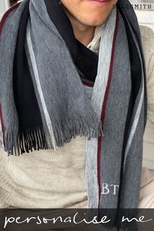 Personalised Mono Stripe Scarf by Solesmith