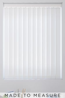 Canvas Snow White Made To Measure Vertical Blind