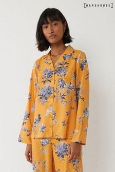 Warehouse Yellow Floral Pyjama Top