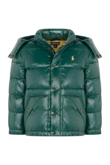 Ralph Lauren Kids Boys Green Padded Jacket