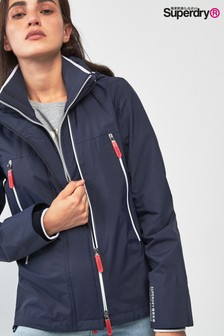 Superdry Navy Velocity Windcheater Jacket