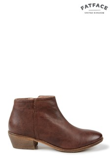 FatFace Brown Lytham Leather Ankle Boot
