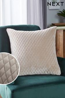 Velvet Quilted Hamilton Square Cushion