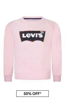 Levi's® Girls Pink Logo Sweater