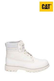CAT® Lifestyle White Lyric Lace-Up Boots