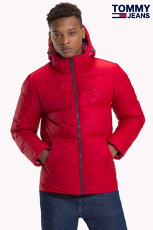 Tommy Jeans Red Down Jacket