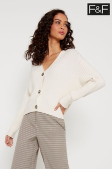 F&F Neutral Stitch Button Cardigan