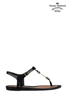 סנדל אצבע עם רצועה סולרית שלVivienne Westwood by Melissa