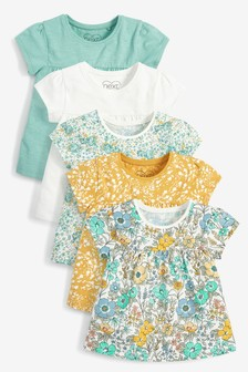 5 Pack GOTS Organic T-Shirts (3mths-7yrs)