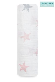 aden + anais Essentials Pink Muslin Swaddle Blanket