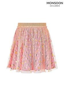 Monsoon Children Pink Buzz Bee Foil Mesh Skirt