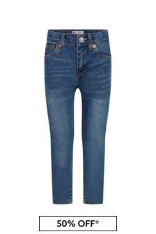 Levis Kidswear Boys Blue Cotton Blend Jeans