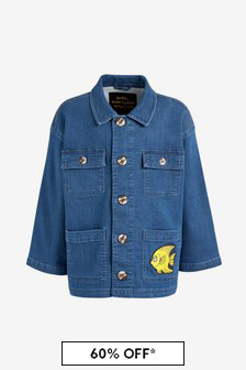 Kids Blue Organic Cotton Denim Safari Jacket