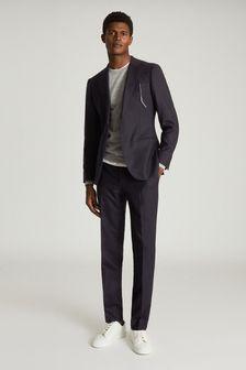 Reiss Blue Player Wool Slim Fit Blazer